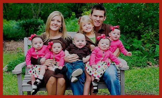 многодетная семья на отдыхе