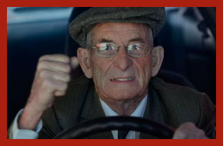 пенсионер на транспорте