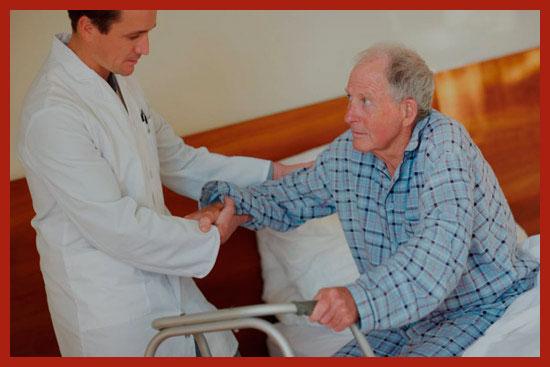 инвалид в больнице