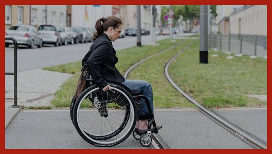 инвалид едет за пенсией