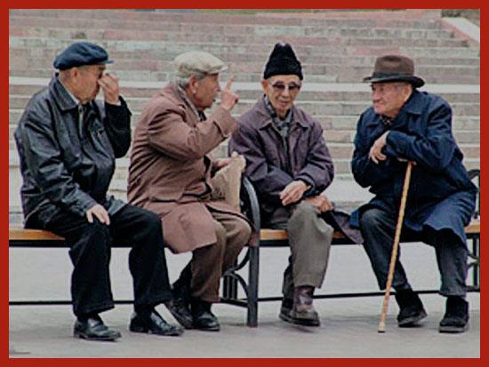военные пенсионеры на отдыхе