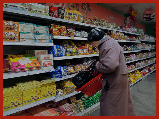 московская пенсионерка в магазине