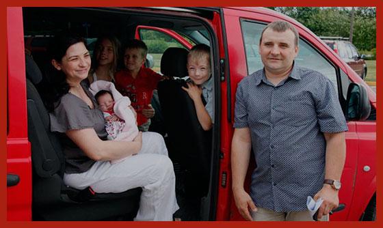 многодетная семья приобрела автомобиль