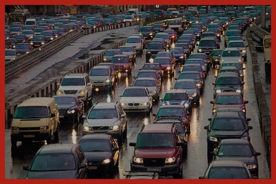 транспортный затор в столице