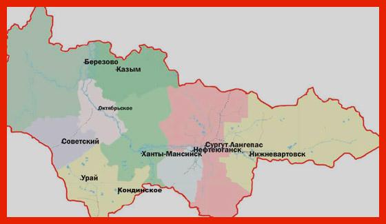карта хмао