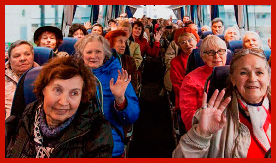 пенсионеры на экскурсии в Москве
