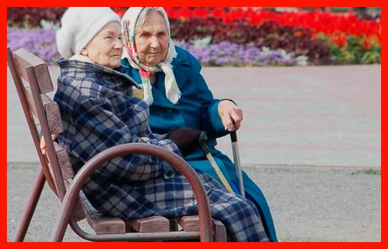 пенсионеры отдыхают на лавочке