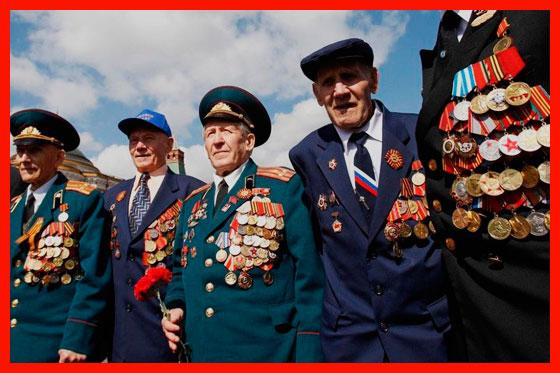 военные пенсионеры на празднике